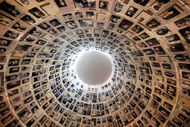 The curved ceiling of the Hall of Names is pictured during a visit by U.S. President Barack Obama at the Yad Vashem Holocaust Memorial in Jerusalem